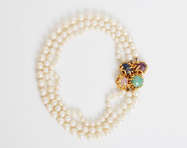 Vogue Pearl Gemstone Necklace