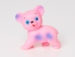 Pink Squeaky Toy Bear