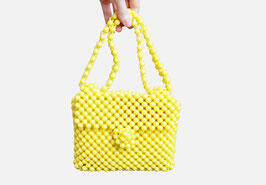 Yellow Beaded Handbag