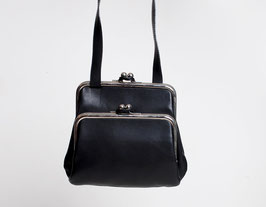 SOLD OUT - Black Kiss Lock Bag