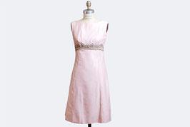 Pink Beaded Waist Dress