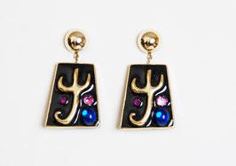Enameled Jewel Earrings
