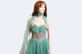 Green Tulle Gown
