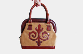 SOLD OUT - Tan Chenille Leather Satchel