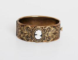 Brass Cameo Clamper Bracelet