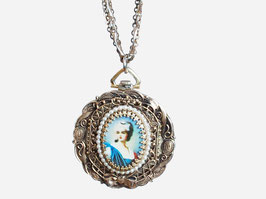 Cameo Portrait Watch Necklace