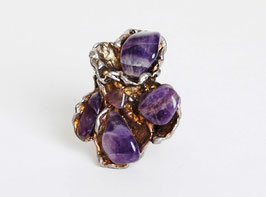 Gold Amethyst Stone Ring