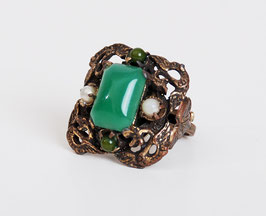 SOLD OUT - Copper & Jade Glass Ring