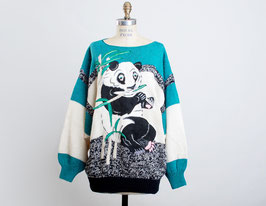 Teal Panda Sweater