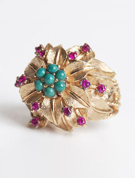 SOLD OUT - Gold Flower Ring by Panetta