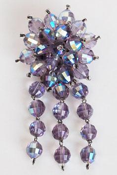 Lavender AB Crystal Brooch