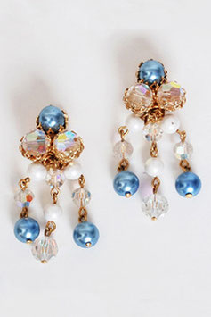 Juliana Blue Pearl Crystal Earrings