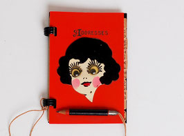 Googly Eye Flapper Celluloid Address Book