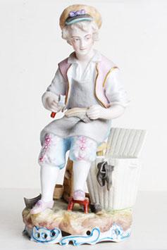 French Porcelain Shoemaker