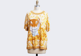 Gold Leaf Tiger Blouse