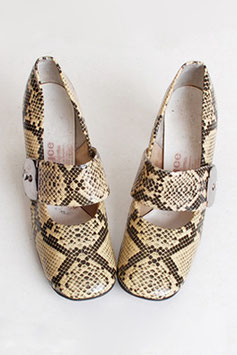 MOD Vinyl Snakeskin Loafers