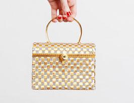 Gold Metal Basket Purse