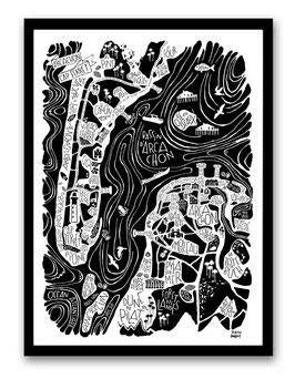 Grand Poster Arcachon-Cap Ferret