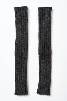 Lange gerippte Pulswärmer / Armstulpen aus Baby-Alpaka-Wolle