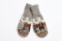 Warme Fausthandschuhe für Kinder -  mit süßem Muster