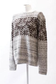 Kuschelig weicher Alpaka-Herren-Pullover im Norweger-Stil