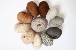 Ungefärbtes, naturbelassenes Strickgarn aus reiner Alpaka-Wolle - 50 g