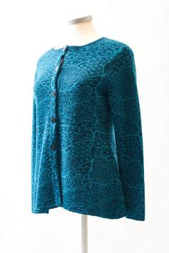 Schicke Strickjacke mit tollem Muster aus 100 % Baby-Alpaka-Wolle