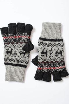 Alpaka-Halbfinger- / Fingerlose Handschuhe, gefüttert, für Damen und Herren
