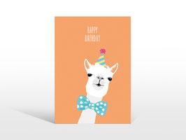 """Hochwertige Alpaka Geburtstags-Postkarte """"Happy Birthday"""""""