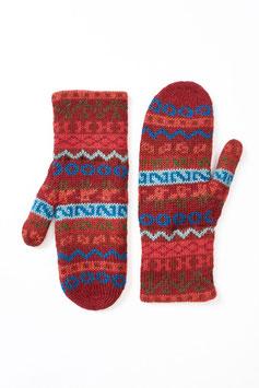 Gefütterte Fausthandschuhe in tollen Farben mit Alpaka-Wolle
