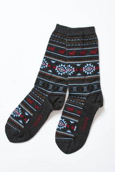 Jacquard-Socken mit hohem Baby-Alpaka-Anteil