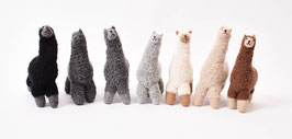 Handgefertigte Alpaka-Kuscheltiere aus Alpaka-Bouclé-Garn
