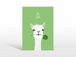 """Alpaka-Postkarte """"Viel Glück"""""""