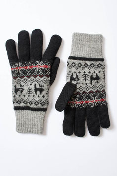 Gefütterte Fingerhandschuhe mit tollem Muster für Damen und Herren
