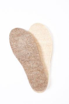Einlegesohlen aus Alpaka-Woll-Filz