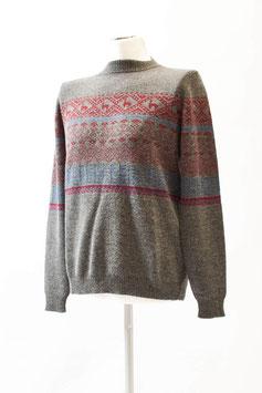 Schöner Alpaka-Herren-Pullover im Norweger-Stil