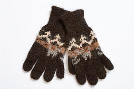 Fingerhandschuhe aus naturbelassener Alpaka-Wolle für Kinder