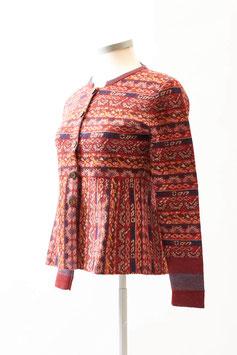 Damen Strickjacke aus 100 % Baby Alpaka in Rot-Tönen