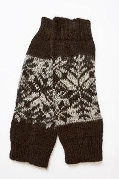 Beinstulpen aus 100 % naturbelassener ungefärbter Alpaka-Wolle