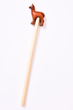 Bleistift mit Alpaka aus Holz