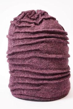 Gefütterte Alpaka Beanie-Mütze mit Volumen-Strick