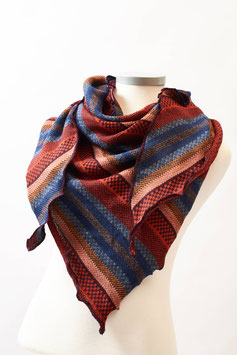 Dreieckschal in wunderschönen Farben aus Alpakawolle