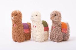 Niedliches Alpaka-Woll-Plüschtier mit Decke