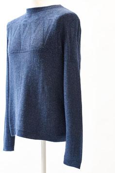 Herren-Pullover mit tollem Strukturstrick aus 100 % Baby-Alpaka-Wolle