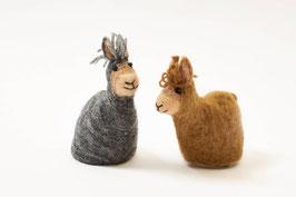 Alpaka-Eierwärmer aus Filz - ideal als Geschenk zu Ostern :-)