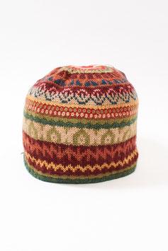 Gefütterte Alpaka-Jacquard-Mütze für Damen