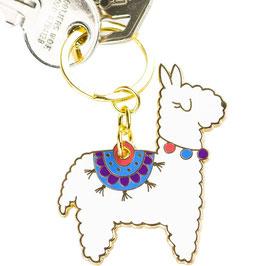 Niedlicher Alpaka Schlüsselanhänger aus Metall