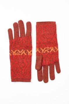 Jaquardmuster-Handschuhe aus 100 % Baby-Alpaka