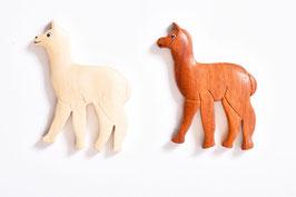 Alpaka-Magnet aus Holz