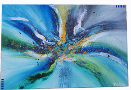 "Tableau abstrait ""blue color"""
